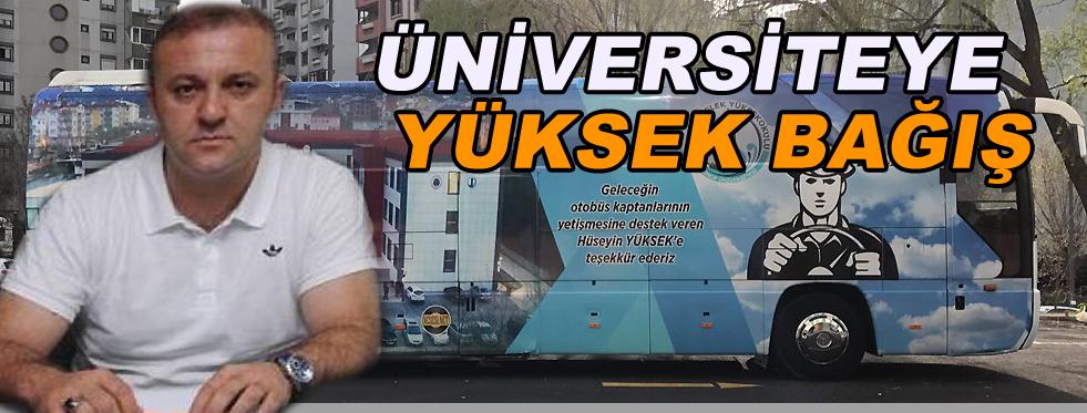 Üniversiteye Otobüs Bağışladı!