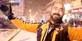 Sinop'ta Karlı Gece