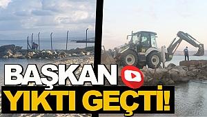 DSİ PLAJINDAKİ TELLER KALDIRILDI!