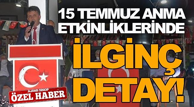 15 TEMMUZ ANMA ETKİNLİKLERİNDE CUMHURBAŞKANI ERDOĞAN'IN POSTERİ ASILMADI!