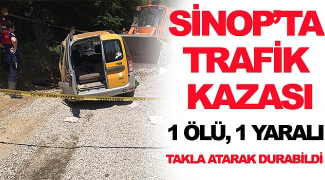 Sinop'ta Trafik Kazası 1 Ölü, 1 Yaralı