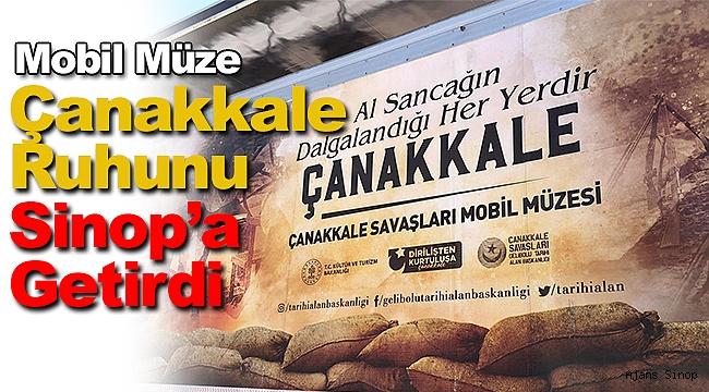 Çanakkale ruhunu taşıyan mobil müze Sinop'ta