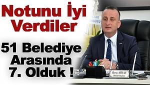 SİNOP, 51 BELEDİYE ARASINDA 7. OLDU !