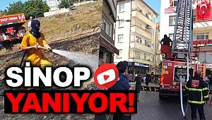 Sinop'ta İki Farklı Noktada Yangın Çıktı