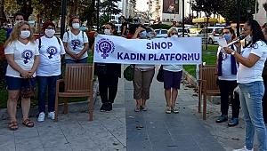 Kadın Platformu, eşini bıçaklayan kocanın tahliyesine karşı toplandı