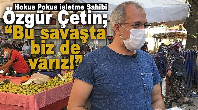 """Özgür Çetin; """"Bu savaşta biz de varız!"""""""