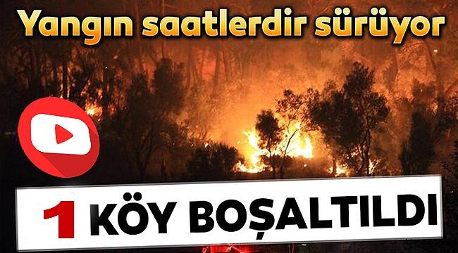 Yangın nedeniyle 1 köy tahliye edildi!