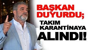 İstanbul Sinopspor takımı Karantinaya alındı!