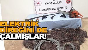 ELEKTRİK DİREĞİNİ DE ÇALMIŞLAR!