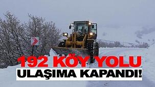 SİNOP'TA 192 KÖYE ULAŞIM SAĞLANAMIYOR