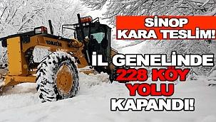 SİNOP'TA 228 KÖY YOLUNA ULAŞIM SAĞLANAMIYOR