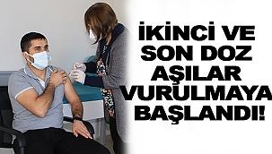 SİNOP'TA İKİNCİ VE SON DOZ AŞI UYGULAMALARI BAŞLADI