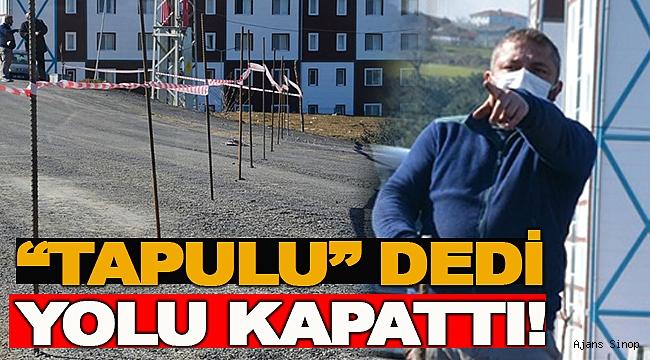 HAKKINI ARAYAN VATANDAŞ YOLU TRAFİĞE KAPATTI!