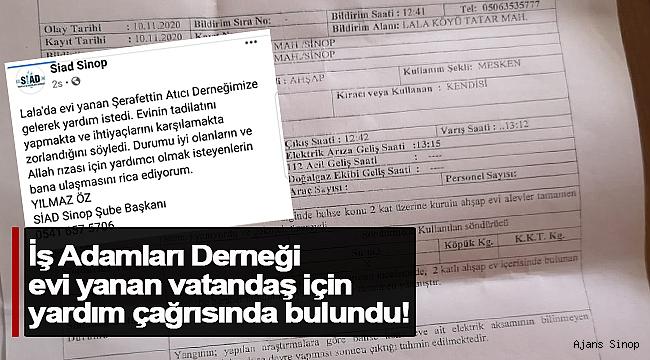 Haydi Sinop, Derneğin yardım çağrısına kulak verelim!