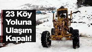 Sinop'ta Kar Yağışı Nedeniyle 23 Köy Yolu Kapandı