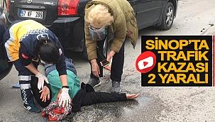 SİNOP'TA TRAFİK KAZASI 2 YARALI