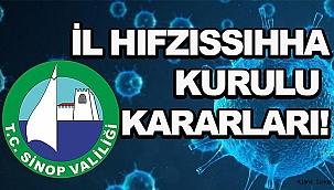 YENİ İL HIFZISSIHHA KURULU KARARLARI!