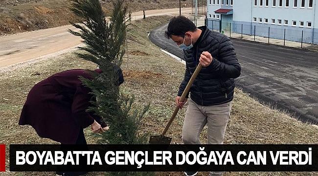 BOYABAT'TA GENÇLER DOĞAYA CAN VERDİ