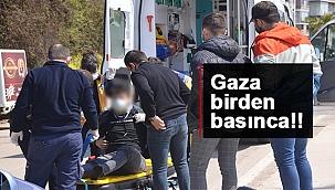 Sinop'ta motosiklet kazası 1 yaralı!