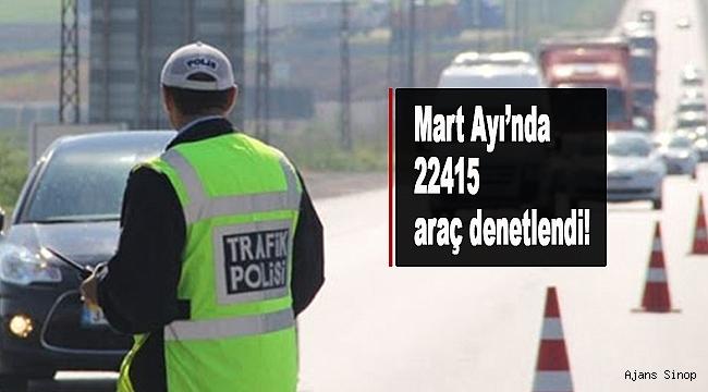 Sinop'ta Trafik Denetlemeleri, Mart Ayı Raporu