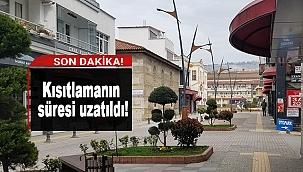 SOKAĞA ÇIKMA KISITLAMASININ SÜRESİ UZATILDI!