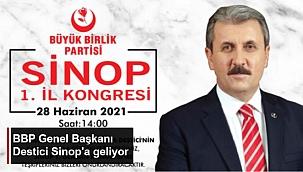 BBP GENEL BAŞKANI DESTİCİ SİNOP'A GELİYOR