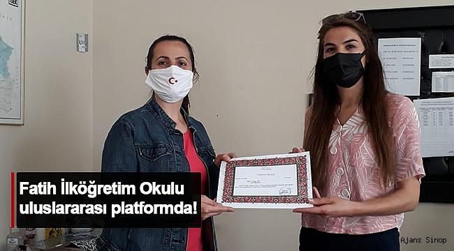 FATİH İLKÖĞRETİM OKULU ULUSLARARASI PLATFORMDA!