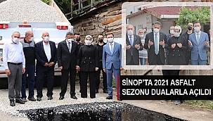 SİNOP'TA 2021 ASFALT SEZONU DUALARLA AÇILDI
