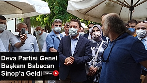 DEVA PARTİSİ GENEL BAŞKANI BABACAN SİNOP'A GELDİ