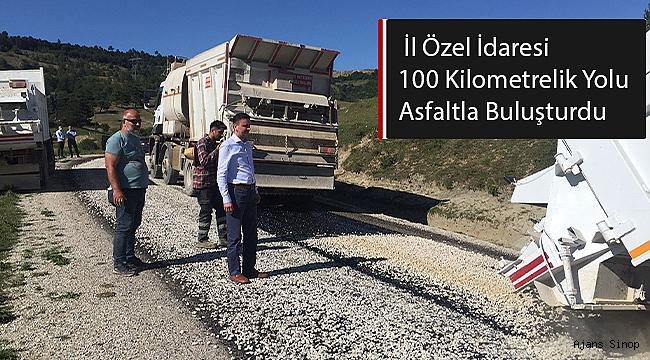İL ÖZEL İDARESİ 100 KİLOMETRELİK YOLU ASFALTLA BULUŞTURDU