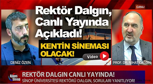 SİNEMA İÇİN BÜTÜN DETAYLARI VERDİ!