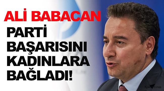 """Ali Babacan, """"Partimizin başarısının temelinde Kadın Çalışmaları var"""""""