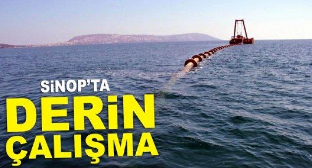 Sinop'ta Derin Deniz Deşarjı çalışmaları