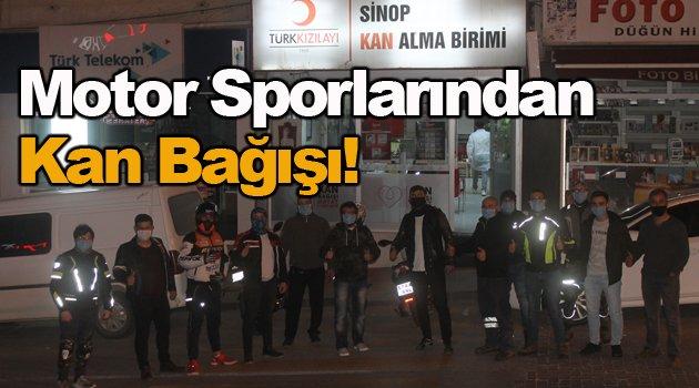 Sinop Motosiklet Kulübünden Kan Bağışı