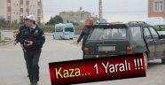 AYANCIK KAVŞAĞINDA TRAFİK KAZASI 1 YARALI