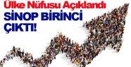 Sinop'un nüfus yaşı orta direk çıktı!