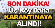 Sinop'ta Karantinaya alınan köy sayılarında artış!