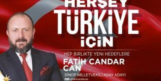 Fatih Candar Can 27. Dönem AK Parti Sinop Milletvekili Aday Adayı